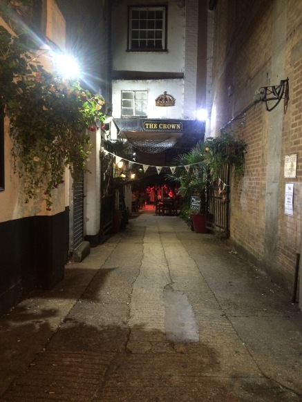 This is the pub we went to Saturday night. We almost walked right passed it because it was down an alley but definitely recommend it. It's called The Crown.