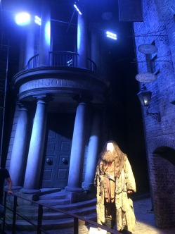 Gringotts and of course Hagrid <3
